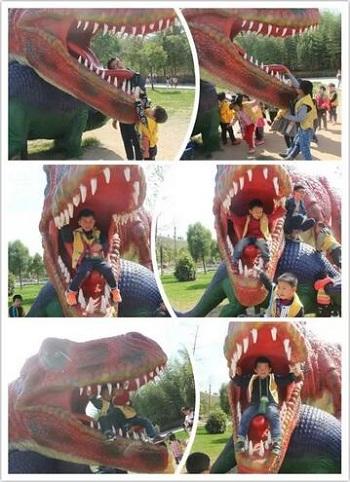 """汇爱幼儿园""""西峡恐龙园探索之旅""""结束!"""