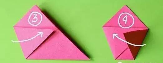 手工折纸电话图解