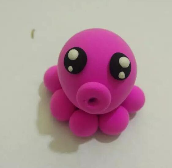 > 汇爱手工乐园创意diy——章鱼宝宝     用超轻粘土制作的超级萌萌哒