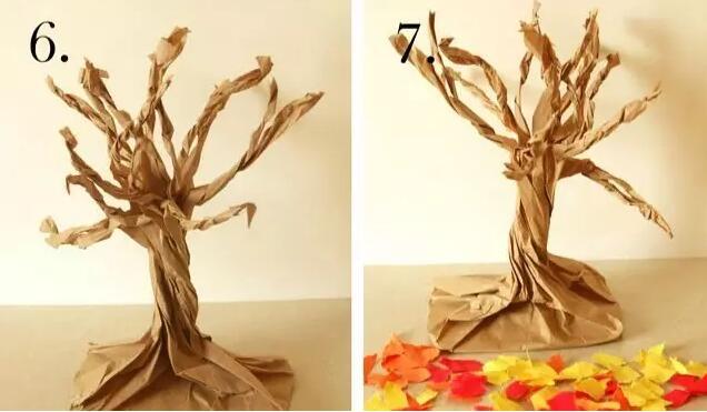汇爱手工乐园教你做秋天落叶树,就是这么简单!